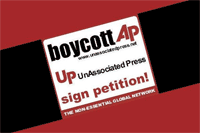 Banner para el boicot a AP