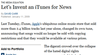 Let's Invent an iTunes for News