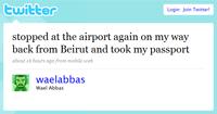 Mensaje en Twitter de Wael Abbas
