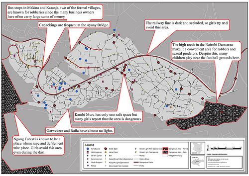 Kibera, mapa de seguridad
