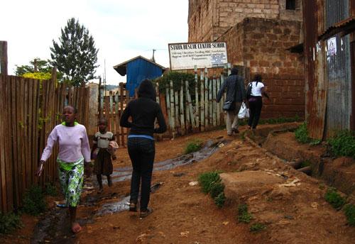 Un pasaje en Kibera