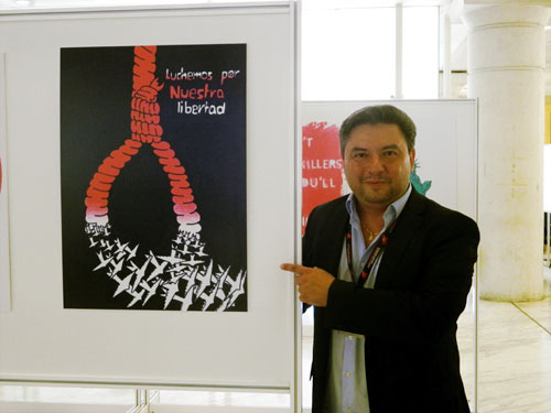 Joaquín Martínez en el V Congreso Mundial contra la Pena de Muerte