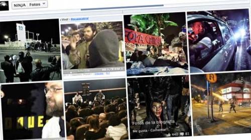 Mídia NINJA  informar de las protestas en Brasil