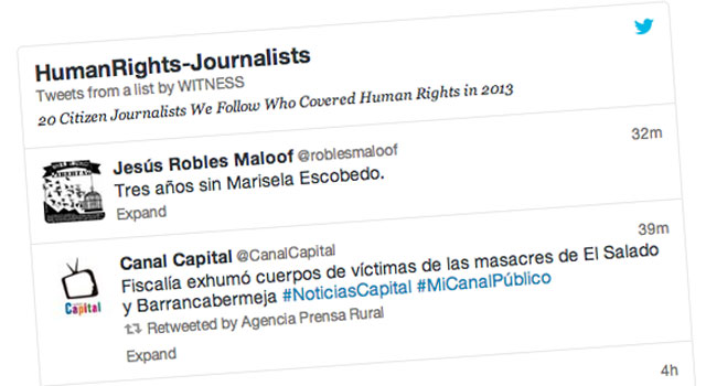 Lista de Twitter HumanRights-Journalists