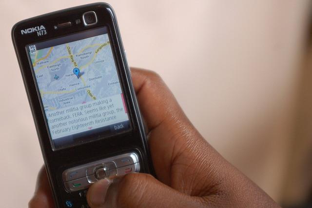 Mapped incident - Ushahidi
