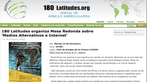 """180 Latitudes y """"El poder de los medios alternativos en internet"""""""
