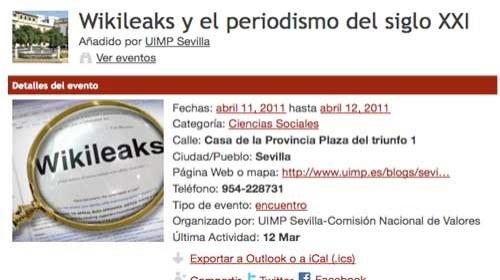 'Wikileaks y el periodismo del siglo XXI'
