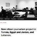 Túnez, Egipto, Jordania y Siria unidos por el periodismo ciudadano