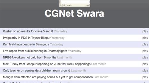 Swara, periodismo ciudadano móvil en la India rural
