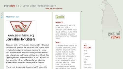Groundviews: El portal del periodismo ciudadano en Sri Lanka