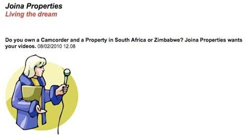 """Periodismo ciudadano inmobiliario desde África en """"Joina Properties"""""""