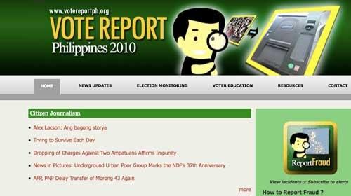 Vote Report Philippines: Periodismo ciudadano contra el fraude electoral