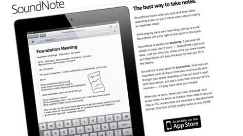 SoundNote: una aplicación para el iPad para estudiantes y periodistas