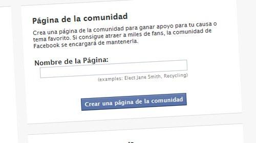"""Facebook incorpora la creación de páginas """"de la comunidad"""""""