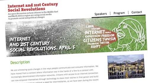 """""""Internet y las revoluciones sociales del siglo XXI"""" en Oriente Medio y África del Norte"""