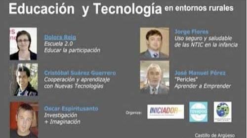 """""""Educación y Tecnologías en Entornos Rurales"""": Vídeos de las jornadas"""