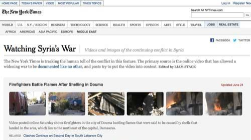 Periodismo ciudadano y tradicional: colaborando en beneficio de la información en #Syria