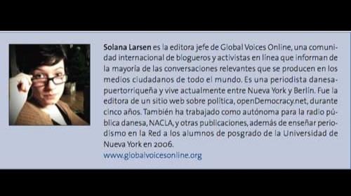 """Solana Larsen y Global Voices: """"El mundo está hablando, ¿lo estás escuchando?"""""""