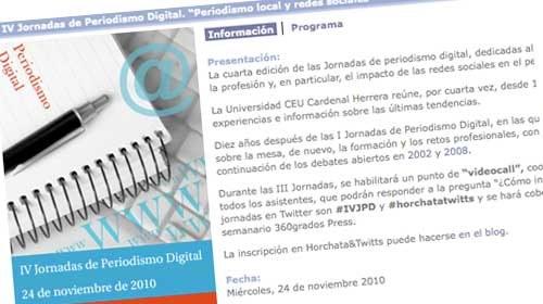 """Periodismociudadano.com en las """"IV Jornadas de Periodismo Digital: periodismo local y redes sociales"""""""