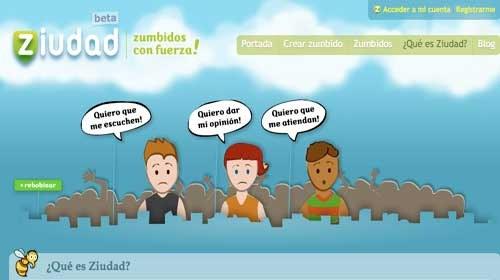 """""""Ziudad"""": Una web social de participación ciudadana"""