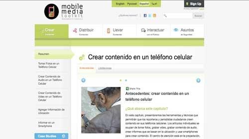 Mobile Media Toolkit: Herramientas para el periodista ciudadano móvil