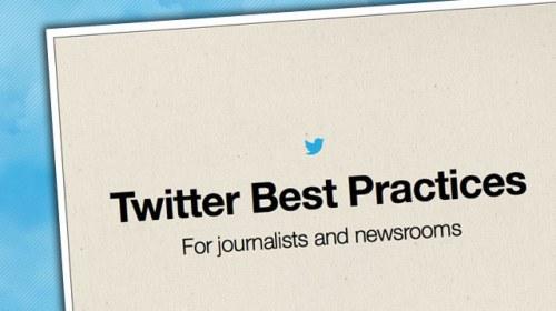 Guía de buenas prácticas de Twitter para periodistas y medios