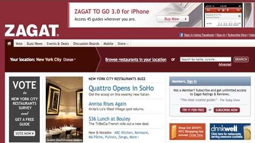 Zagat: Periodismo ciudadano gastronómico