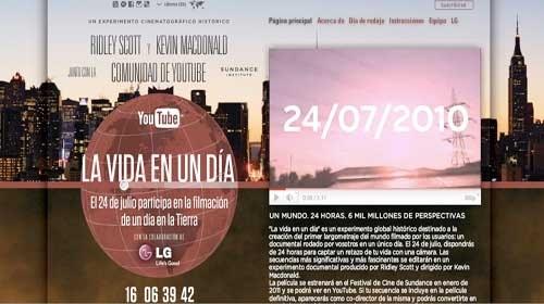"""""""La vida en un día"""": YouTube, Ridley Scott, Kevin Macdonald y tú"""