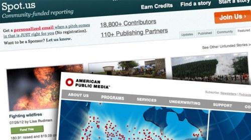 Spot.us cae drásticamente tras su adquisición por American Public Media