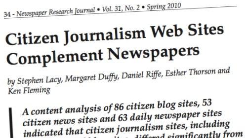 Un estudio presenta al periodismo ciudadano como complementario del profesional