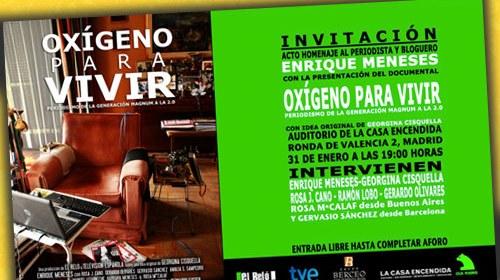 """""""Oxígeno para Vivir"""", un documental sobre la figura de Enrique Meneses"""