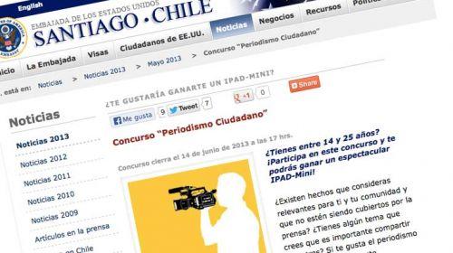 La embajada de EE.UU. en #Chile convoca un concurso de periodismo ciudadano