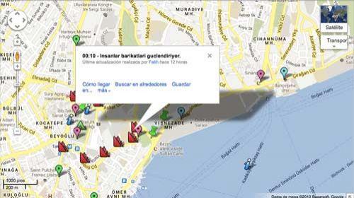 Istanbul Polis Hareketleri: un mapa colaborativo para seguir los movimientos de la Policía en Estambul #Occupygezi