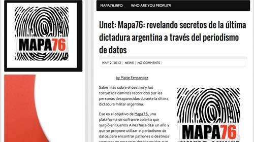 Mapa76: Periodismo de datos para mostrar los abusos de la dictadura Argentina