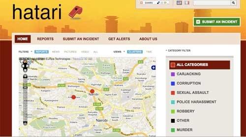 """""""Hatari"""" un mapa ciudadano para geolocalizar la delicuencia en Nairobi"""