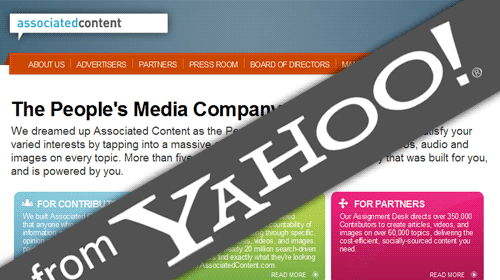 Yahoo se suma al periodismo ciudadano con la compra de Associated Content