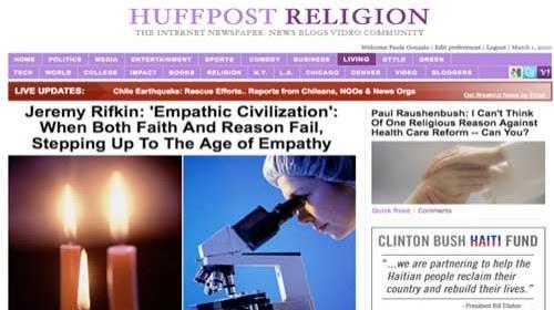HuffPost Religion es el nuevo espacio dedicado a la religión del Huffington Post