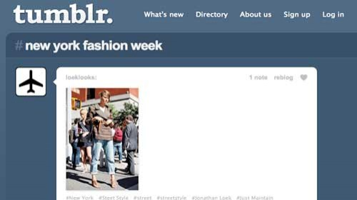 Tumblr patrocina a 20 blogueros para cubrir la Fashion Week de Nueva York