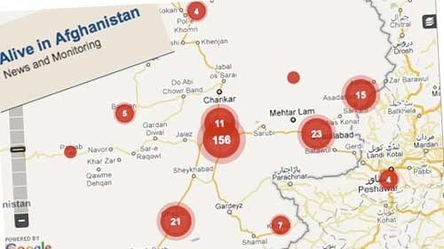 Alive in Afganistán: Periodismo híbrido geolocalizado