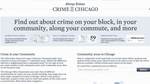"""Crime In Chicago"", periodismo de datos desde el Chicago Tribune"