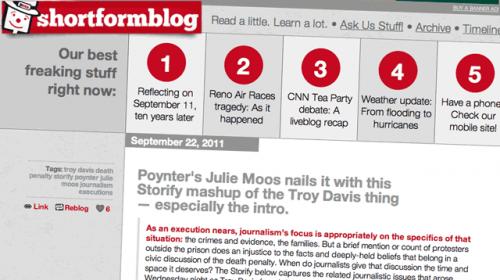 ShortFormBlog: innovando en la distribución de información mediante Tumblr