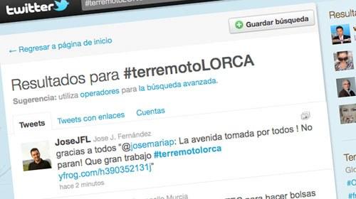 #TerremotoLorca despierta la solidaridad en Twitter