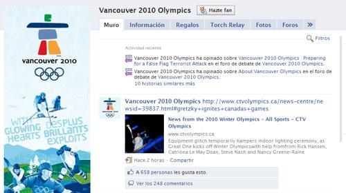 La estrategia de medios sociales en los Juegos de Invierno de Vancouver