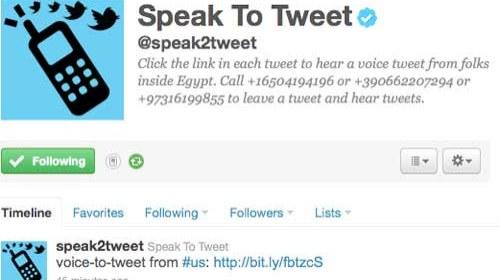 Google y Twitter unidos en favor de la libertad de expresión en #Egypt #Jan25