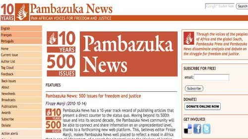 Pambazuka News: 10 años defendiendo el periodismo ciudadano en África