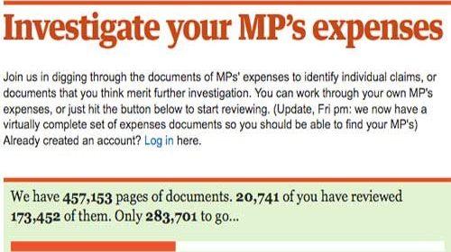 The Guardian mezcla crowdsourcing y periodismo ciudadano para investigar a los parlamentarios británicos