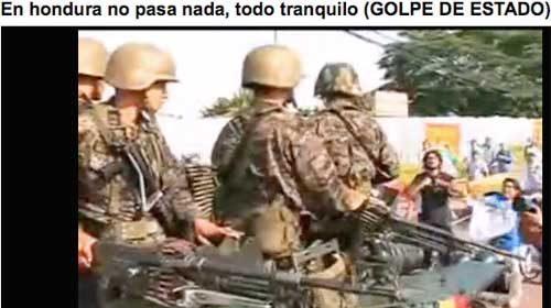 """Estudiantes de Tegucigalpa organizan un """"Telegolpe"""" en Honduras"""