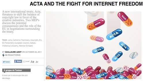 ACTA: la industria se enfrenta a la realidad de Internet