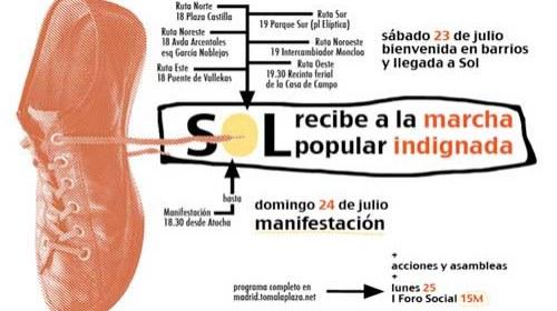 Toda la información sobre la #MarchaIndignada, este fin de semana #23j y #24j en Madrid