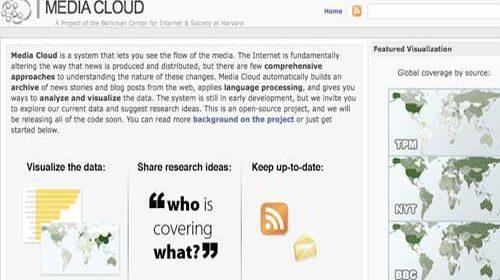 Media Cloud: Una nueva herramienta para conocer cómo se desarrollan las noticias